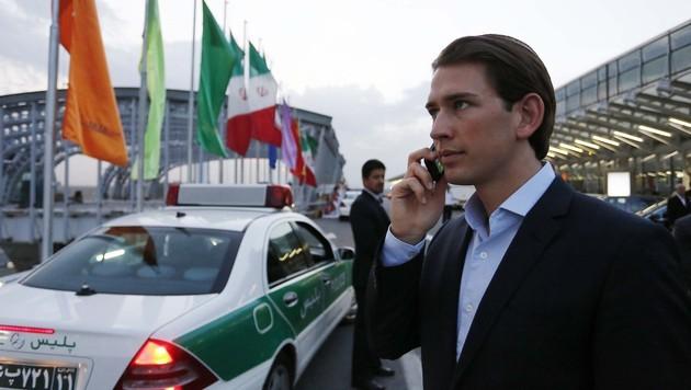 Kurz zu dreitägigem Besuch im Iran eingetroffen (Bild: APA/DRAGAN TATIC)