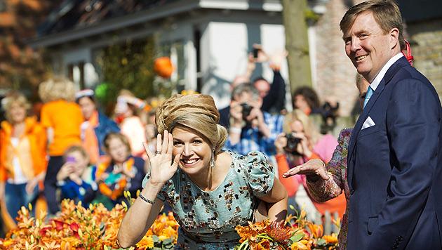 Niederlande feierten ihren ersten Königstag (Bild: APA/EPA/FREEK VAN DEN BERGH/POOL)
