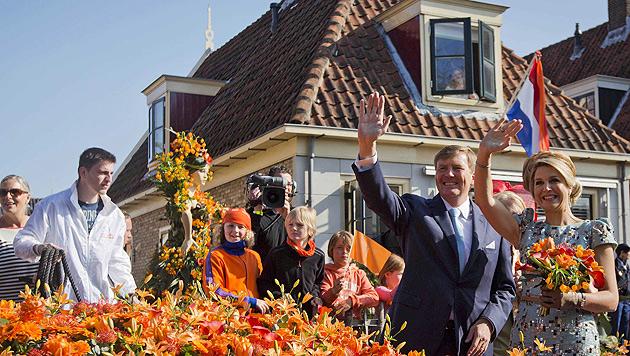 Niederlande feierten ihren ersten Königstag (Bild: APA/EPA/FREEK VAN DEN BERGH)
