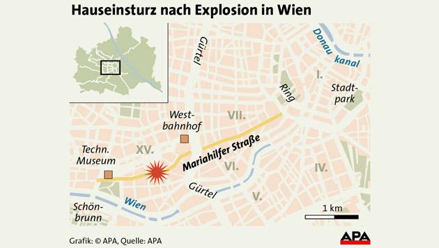 Wien: Aus Liebeskummer Haus in die Luft gesprengt (Bild: APA)