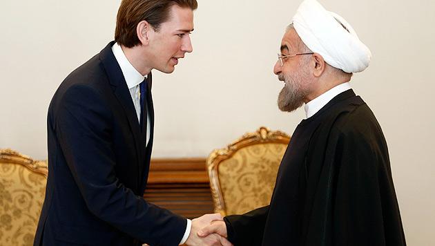 Atomstreit: Rohani bei Kurz-Besuch optimistisch (Bild: APA/Dragan Tatic)