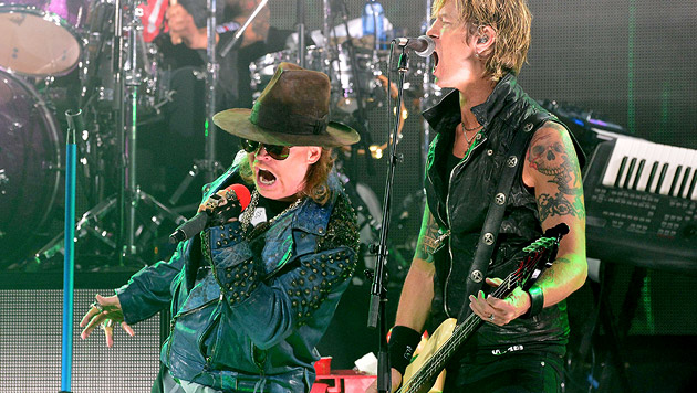 """Guns N"""" Roses schrauben an einem neuen Album (Bild: AFP)"""