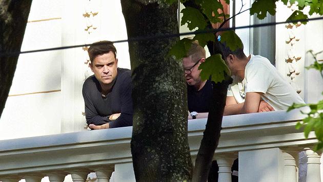 Hier entspannt Robbie vor seinen Wien-Konzerten (Bild: Alexander Tuma/Kronen Zeitung)