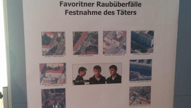 Die Tatorte, an denen der Verdächtige zuletzt zugeschlagen haben soll. (Bild: krone.tv/Thomas Strobl)