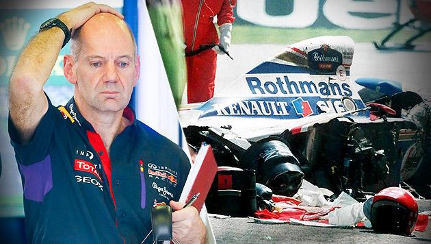 "Newey zu Senna-Unfall: ""Habe mich verrechnet"" (Bild: APA/EPA/DIEGO AZUBEL, APA/EPA/JEAN-LOUP GAUTREAU,krone.at-Grafik)"
