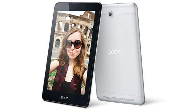Das Iconia Tab 7 kann man auch als Telefon nutzen. Es kommt Ende Juni für 150 Euro nach Österreich. (Bild: Acer)