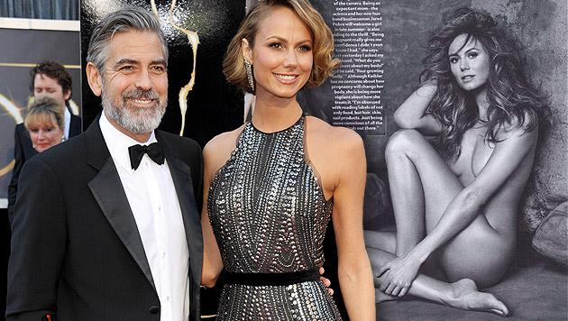 Clooney-Ex Stacy Keibler postet heißes Nacktfoto (Bild: AP, instagram.com, krone.at-Grafik)