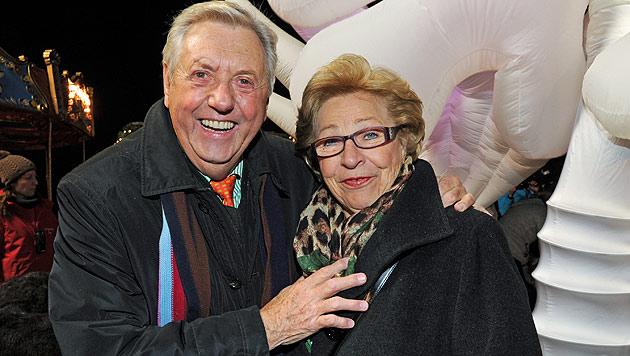 Karl Moik mit seiner Gattin Edith (Bild: APA/dpa/Ursula Düren)