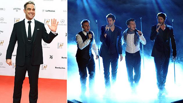 Robbie Williams kehrt nicht zu Take That zurück (Bild: EPA, CLAUDIO ONORATI/EPA/picturedesk.com)