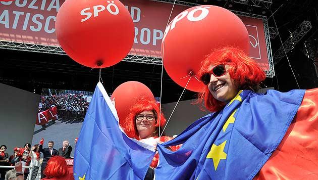 SPÖ optimistisch für EU-Wahl - Schelte für ÖVP (Bild: APA/Hans Punz)