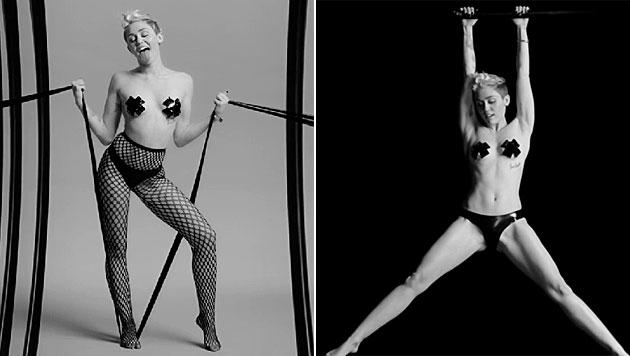 Im Trailer zu Beginn ihrer Bühnenshow zeigt sich Miley fast nackt und sehr verrucht. (Bild: Nowness/Quentin Jones)