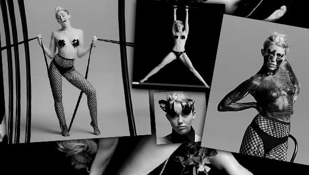 Miley Cyrus provoziert mit einem Bondage-Clip, den sie jetzt im Rahmen eines Porno-Festivals zeigt. (Bild: Nowness/Quentin Jones)