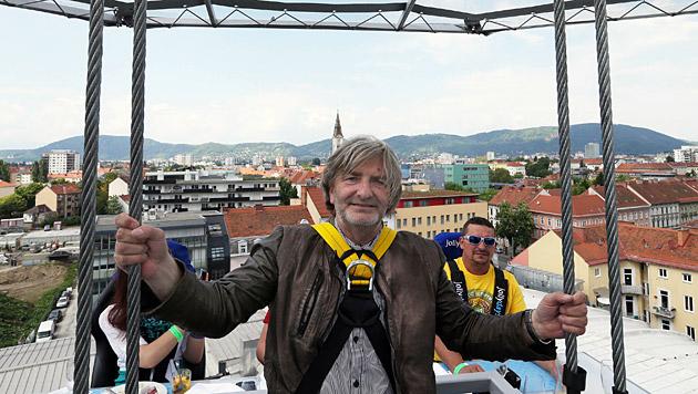 """Auch Fotograf Jürgen Radspieler musste """"über die Wolken"""". (Bild: Jürgen Radspieler)"""