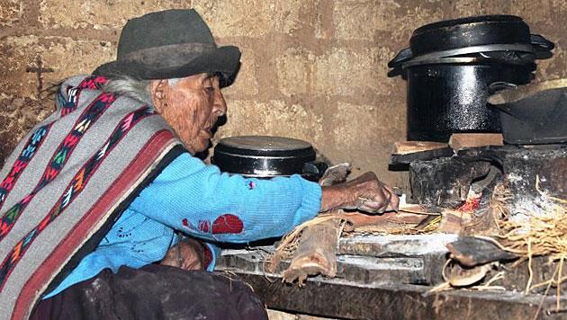 Rüstige Peruanerin womöglich älteste Frau der Welt (Bild: AFP)