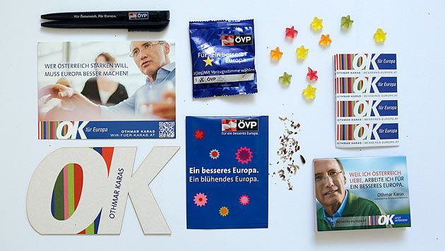 Bei Othmar Karas und der ÖVP gibt's was zum Naschen. (Bild: APA/GEORG HOCHMUTH)