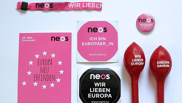 """""""Think pink"""" heißt es bei den NEOS. (Bild: APA/GEORG HOCHMUTH)"""