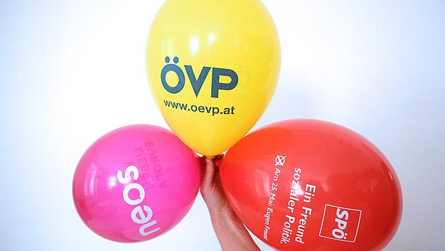 EU-Wahl: Blumensamen und Luftballons fürs Volk (Bild: APA/GEORG HOCHMUTH)