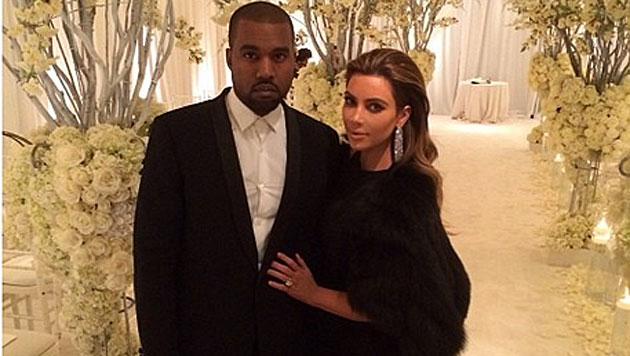 Großes Verwirrspiel um Kim und Kanyes Hochzeit (Bild: instagram.com)