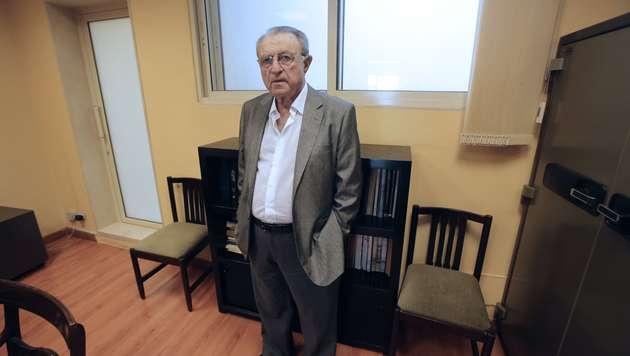 Ramzi Alamuddin, der Vater von George Clooneys Verlobter Amal, in seinem Büro in Beirut. (Bild: AFP)