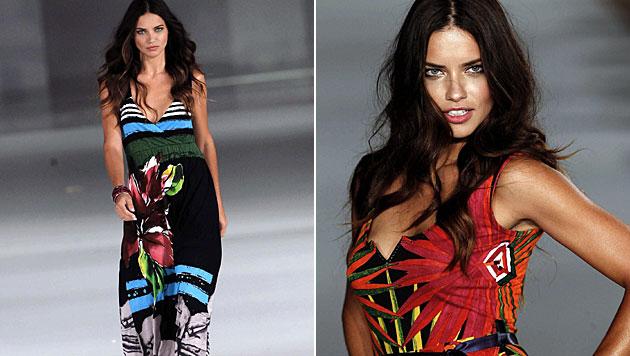 Sexy Model-Engel Adriana Lima ist wieder zu haben (Bild: EPA)