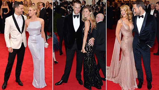 Joshua Jackson und Diane Kruger, Tom Brady und Gisele Bündchen sowie Blake Lively und Ryan Reynolds (Bild: APA/EPA/JUSTIN LANE)