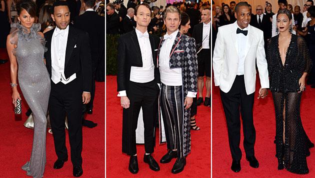 Chrissy Teigen und John Legend, Neil Patrick Harris und David Burtka, Jay-Z und Beyonce (Bild: APA/EPA/JUSTIN LANE)