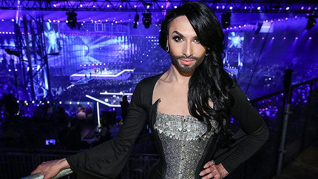 Thomas Neuwirth als Conchita Wurst vor dem Auftritt beim Eurovision Song Contest 2014 in Kopenhagen (Bild: ORF)