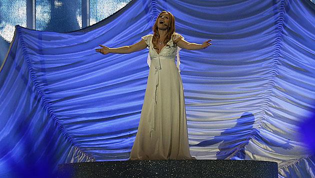 """Ralph Siegel steuert den Song für San Marinos Valentina Monetta bei. Sie schmettert """"Maybe"""". (Bild: APA/EPA/BAX LINDHARDT)"""