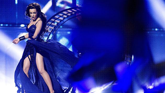 Die Ukrainerin Marija Jaremtschuk will mit einer sexy performance in Europa punkten. (Bild: APA/EPA/BAX LINDHARDT)