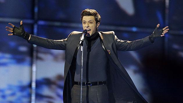 """Aram Mp3 tritt mit """"Not Alone"""" für Armenien an. Er gilt als Topfavorit. (Bild: APA/EPA/BAX LINDHARDT)"""