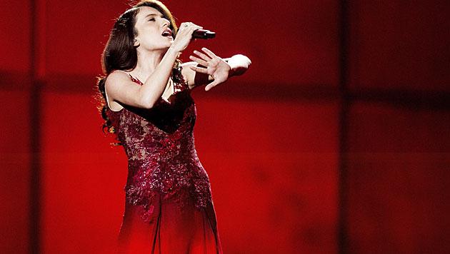 """Aserbaidschan hofft mit Dilara Kazimova und ihrem Song """"Start A Fire"""" auf den Sieg. (Bild: APA/EPA/BAX LINDHARDT)"""