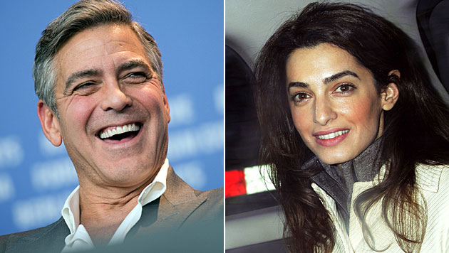 Hat Clooneys Verlobte Amal Stress mit dem Zoll? (Bild: APA/EPA/ARNO BURGI, AP)