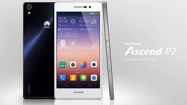 Huawei enthüllt neuen Handy-Flachmann Ascend P7 (Bild: Huawei)
