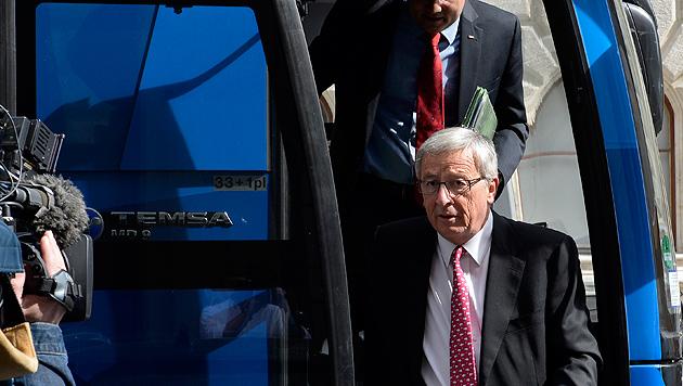 """Juncker: """"Bei Wahlniederlage wäre ich sehr böse"""" (Bild: APA/HERBERT NEUBAUER)"""