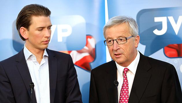 """Juncker: """"Bei Wahlniederlage wäre ich sehr böse"""" (Bild: APA/ÖVP/JAKOB GLASER)"""