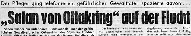 """Die """"Krone"""" berichtete unter anderem im Februar 1980 über die Flucht des """"Satans von Ottakring"""". (Bild: """"Krone""""-Archiv)"""