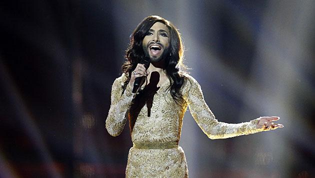 Die bärtige Diva erregte schon vor ihrem ersten Auftritt national und international viel Aufsehen. (Bild: APA/EPA/NIKOLAI LINARES)