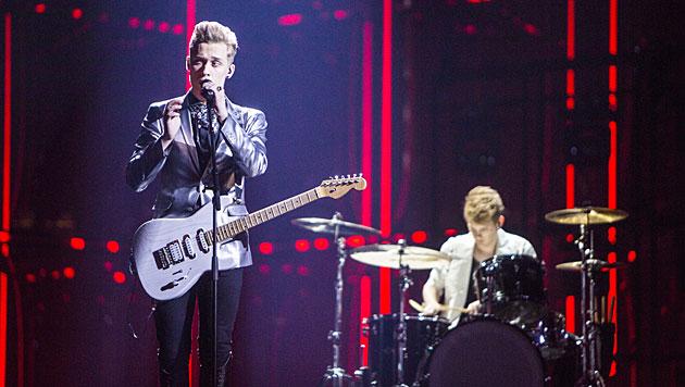 Mit Rock-Pop und vier feschen Burschen will Finnland heuer viele Punkte von Europa einheimsen. (Bild: APA/EPA/NIKOLAI LINARES)