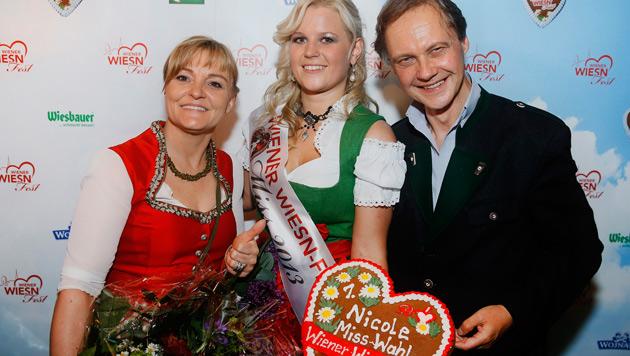 Claudia Wiesner, Nicole Schuller, Christian Feldhofer (Bild: Roland Rudolph, Wiener Wiesn-Fest)