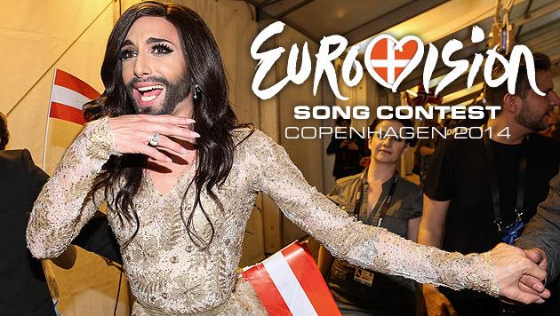 Ein goldener Mann für Conchita Wurst (Bild: APA/ORF/MILENKO BADZIC, DR)