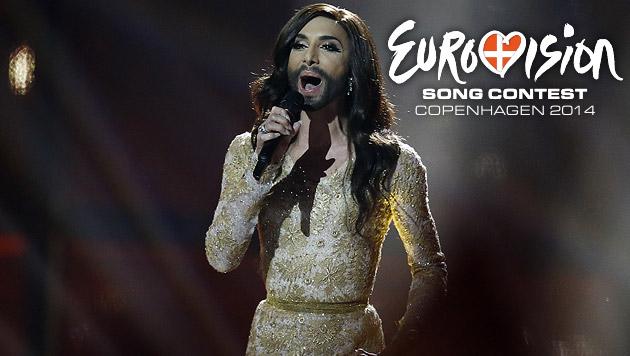 Ein goldener Mann für Conchita Wurst (Bild: AP, DR)