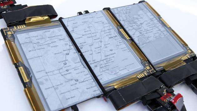 Forscher zeigen faltbares Multifunktions-Handy (Bild: hml.queensu.ca)