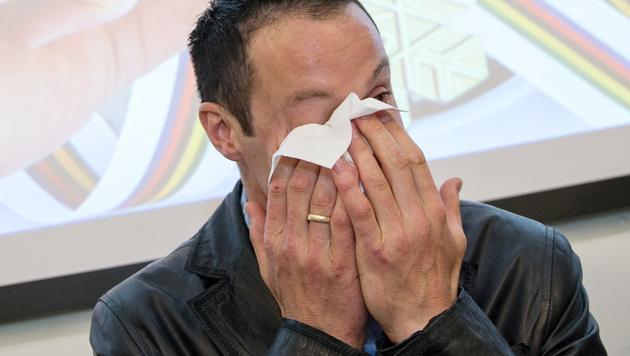 Pranger dankt unter Tränen für tolle Karriere (Bild: APA/EXPA/JOHANN GRODER)