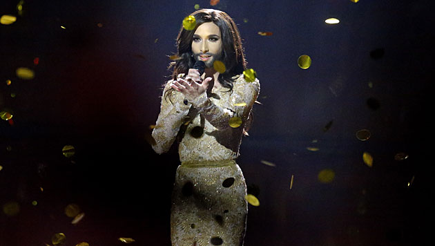 Conchita bei ihrer Sieger-Performance (Bild: AP)