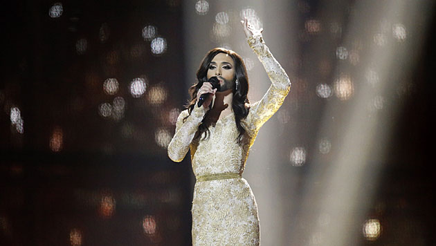 Die bärtige Diva hat nach 48 Jahren den Song Contest wieder nach Österreich geholt. (Bild: AP)