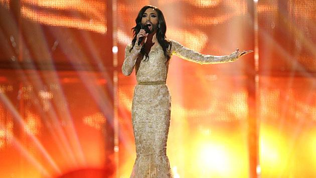 Ein fulminanter Auftritt von Conchita Wurst. Europa liebt die Diva zurecht! (Bild: AP)