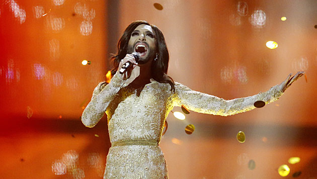 Conchita Wurst war auch Halbfinal-Königin (Bild: AP)