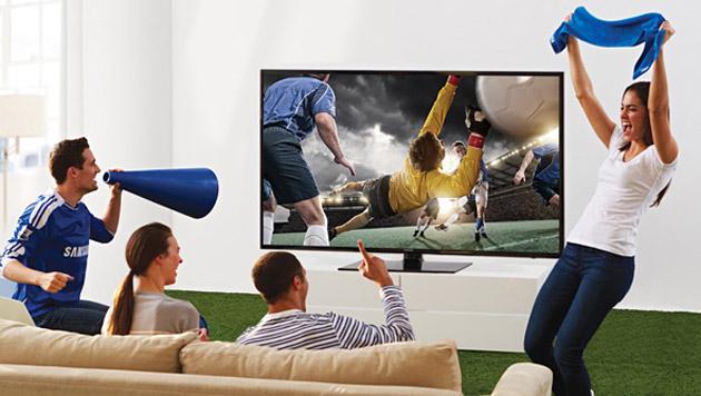 Fußball-WM hilft 4K-TV auch nicht auf die Sprünge (Bild: Samsung)