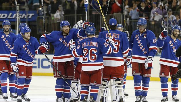 Rangers retten sich in 7. Spiel gegen Penguins (Bild: AP)