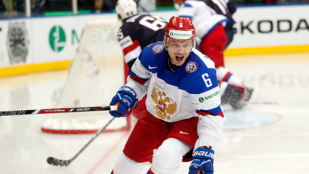 Weiter souverän: Russland fertigt USA mit 6:1 ab (Bild: AP)